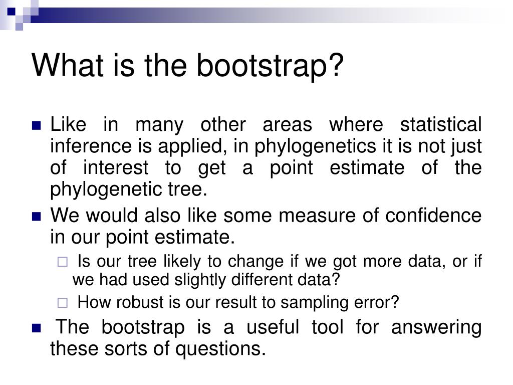 What is the bootstrap?