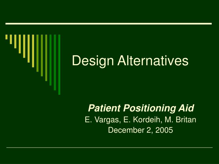 design alternatives n.