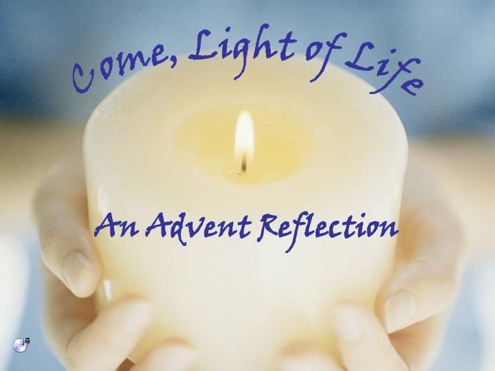 an advent reflection n.