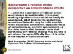 background a rational choice perspective on embeddedness effects