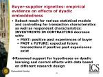 buyer supplier vignettes empirical evidence on effects of dyadic embeddedness