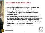 extensions of the trust game