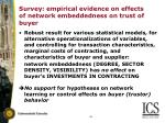 survey empirical evidence on effects of network embeddedness on trust of buyer