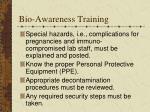 bio awareness training