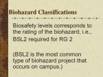biohazard classifications