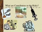 what are contributors to the risks