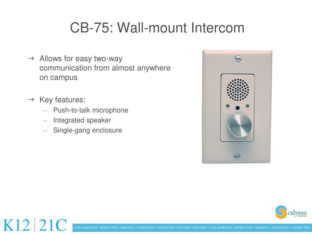 CB-75: Wall-mount Intercom