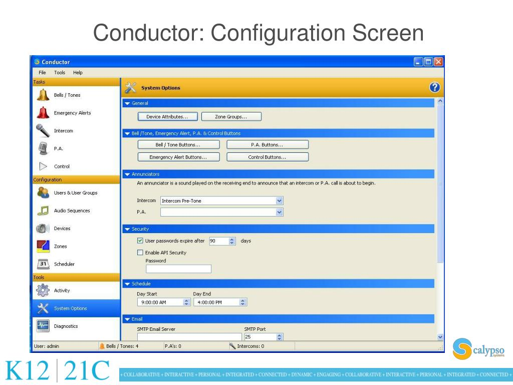 Conductor: Configuration Screen