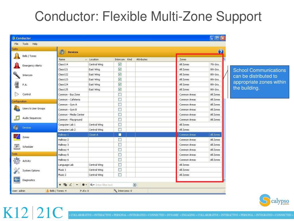 Conductor: Flexible Multi-Zone Support