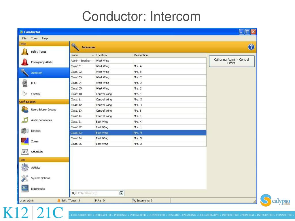 Conductor: Intercom