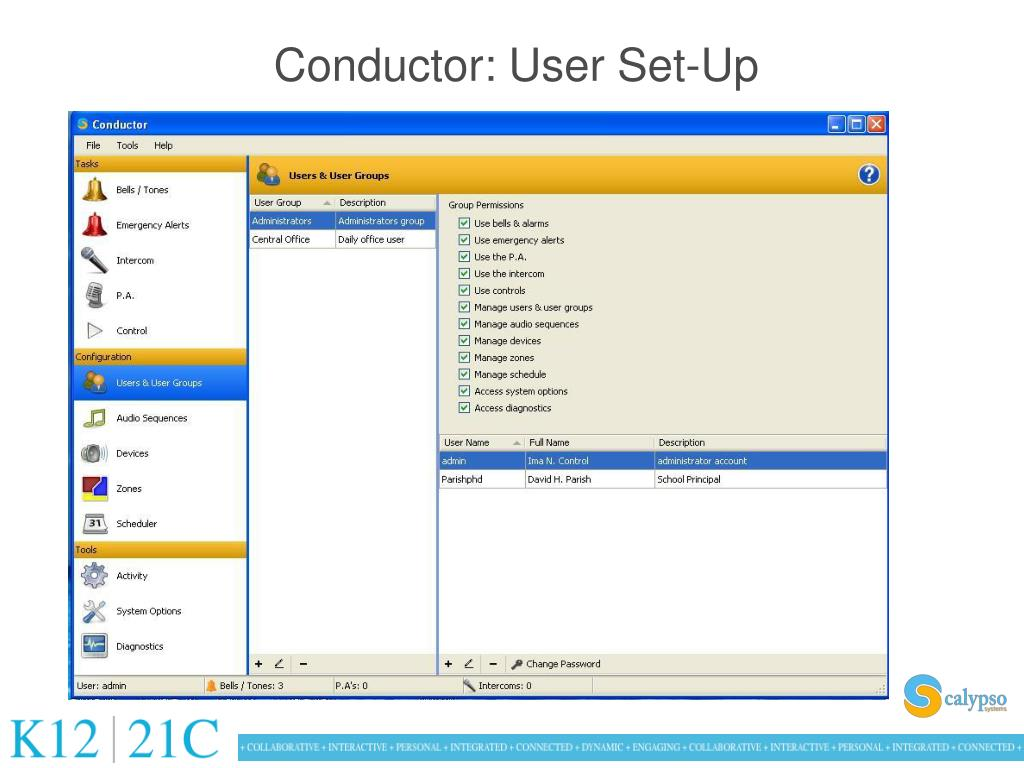 Conductor: User Set-Up