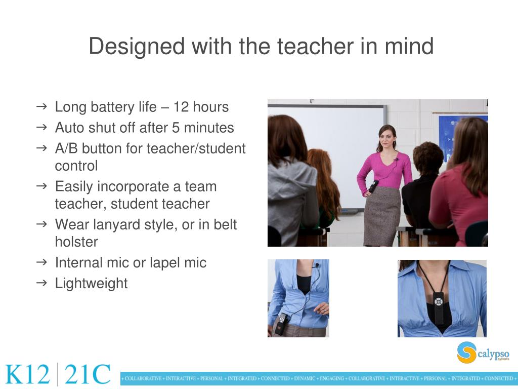 Designed with the teacher in mind