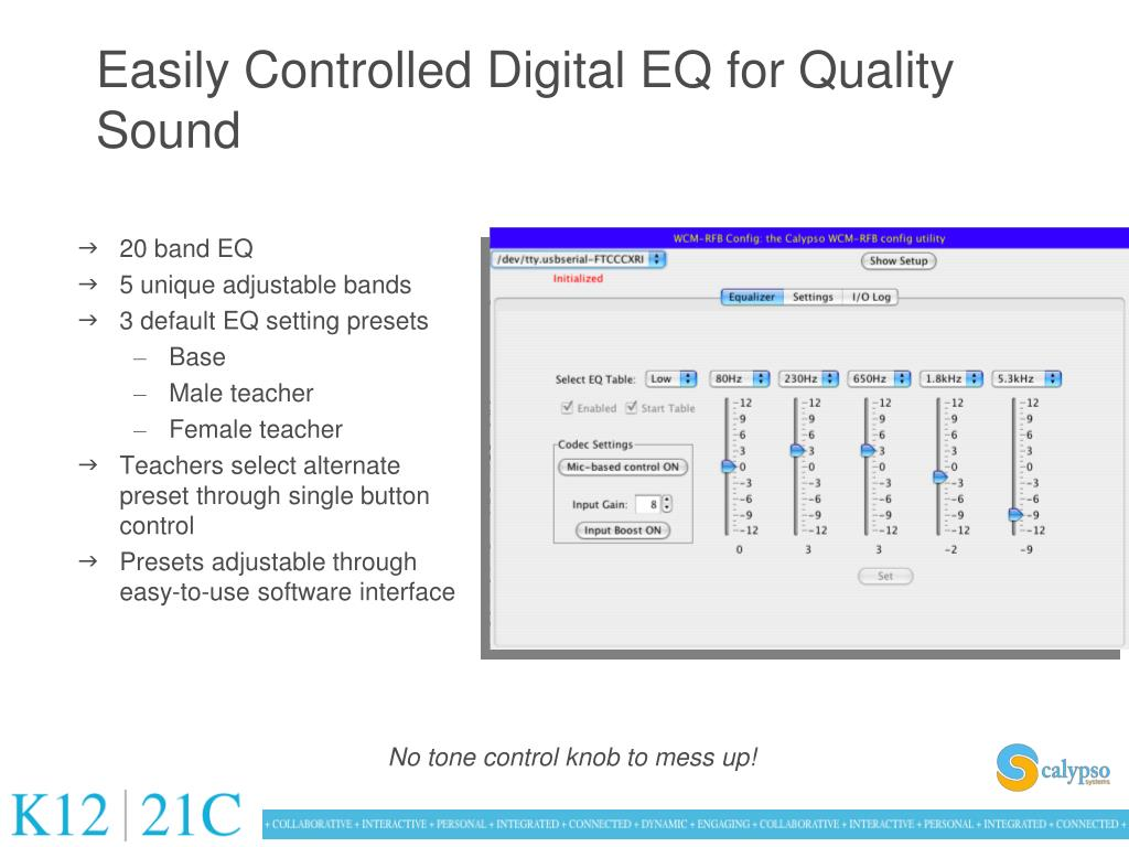 Easily Controlled Digital EQ for Quality Sound