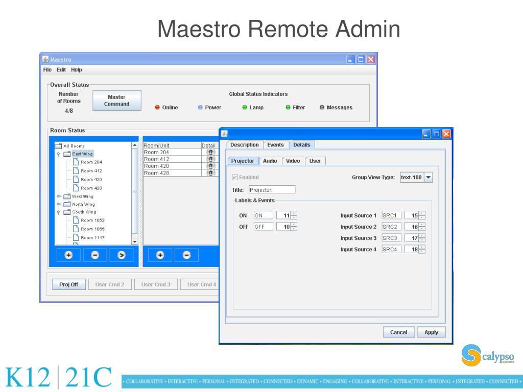 Maestro Remote Admin