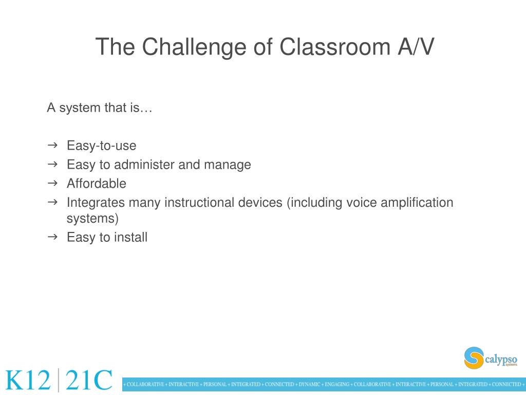 The Challenge of Classroom A/V