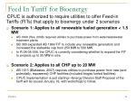 feed in tariff for bioenergy