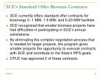 sce s standard offer biomass contracts