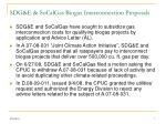 sdg e socalgas biogas interconnection proposals