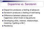 dopamine vs serotonin