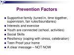 prevention factors