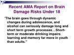recent ama report on brain damage risks under 18