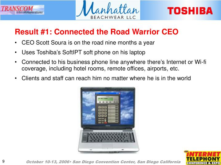 Result #1: Connected the Road Warrior CEO