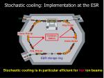 stochastic cooling implementation at the esr