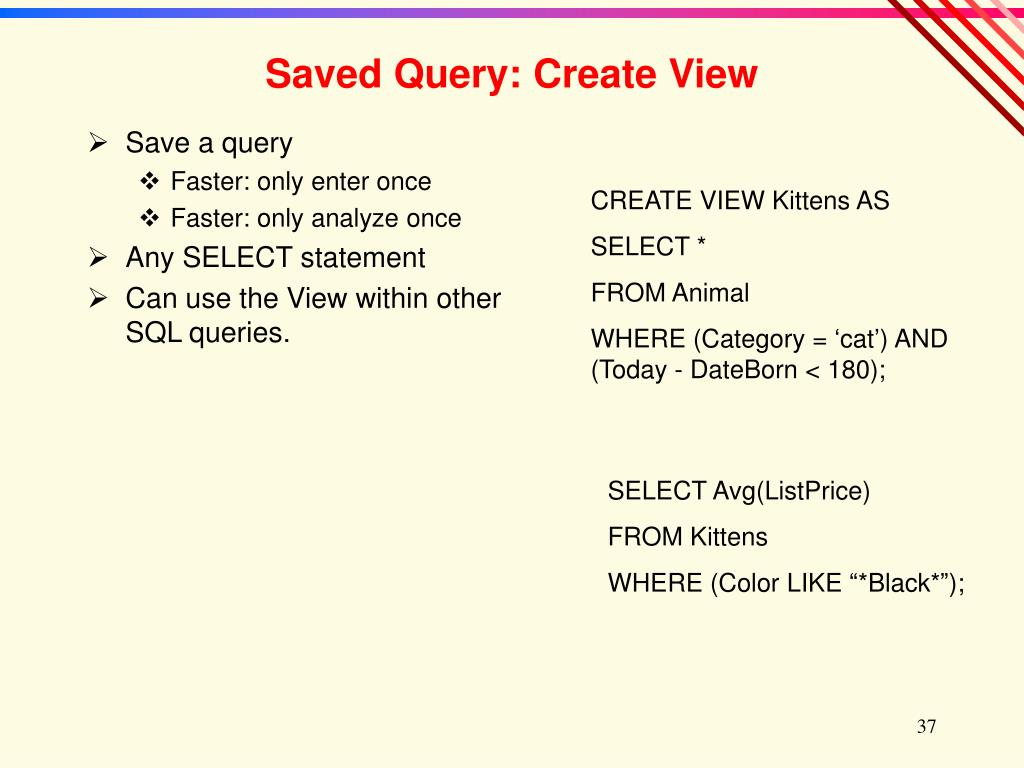 Save a query