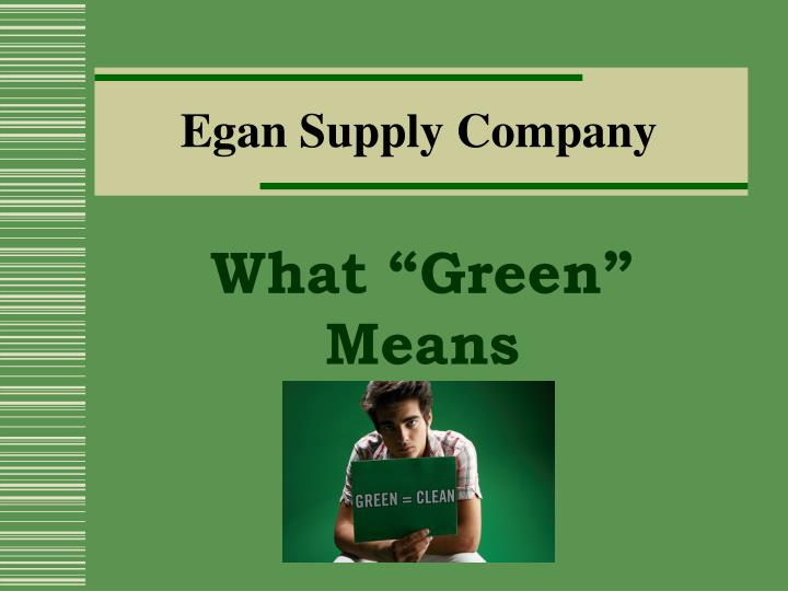 egan supply company n.