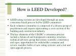 how is leed developed