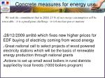 concrete measures for energy use