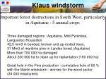 klaus windstorm