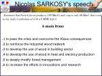 nicolas sarkosy s speech