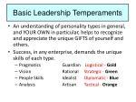 basic leadership temperaments