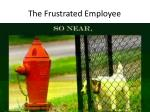 the frustrated employee