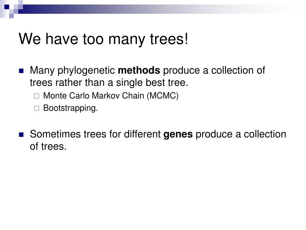 We have too many trees!