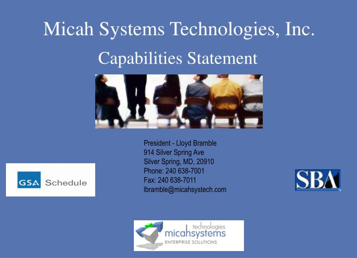 Micah Systems Technologies, Inc.