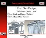 head gate design