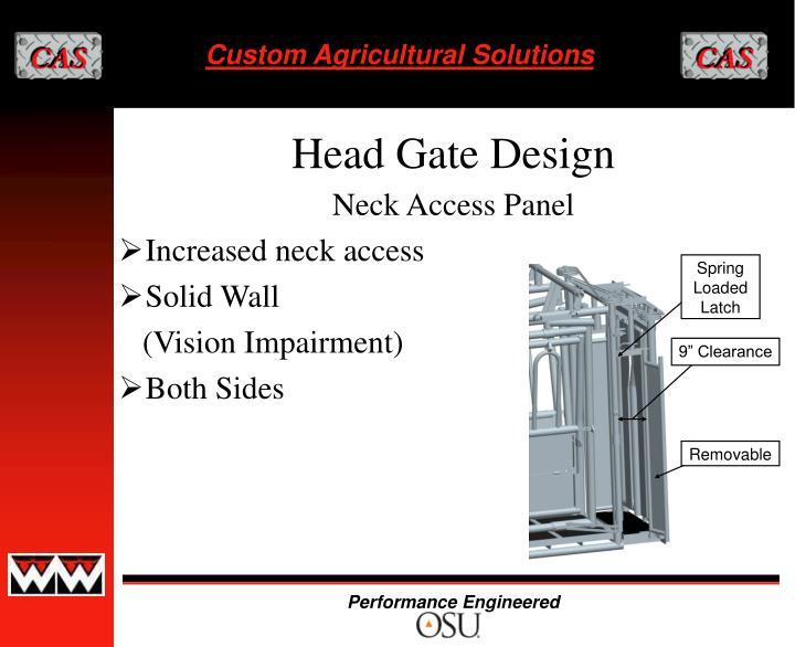 Neck Access Panel