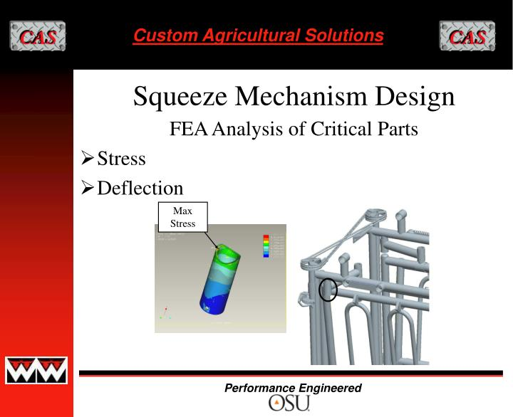 FEA Analysis of Critical Parts