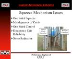 squeeze mechanism issues