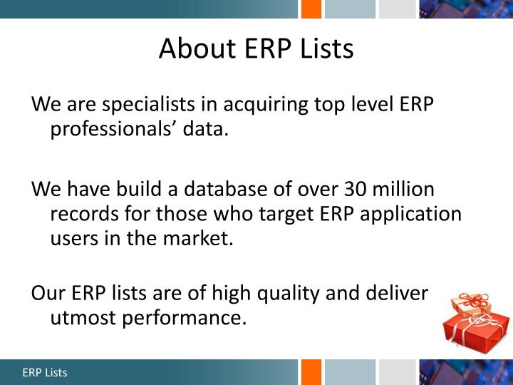 About erp lists