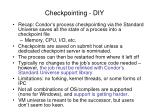 checkpointing diy
