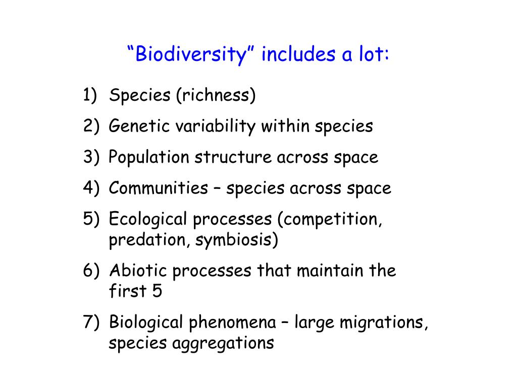 """""""Biodiversity"""" includes a lot:"""