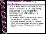 automated sequencing factories