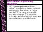 gel based sequencing methods1