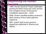 sequencing the human genome1