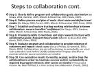 steps to collaboration cont