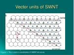 vector units of swnt
