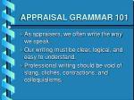 appraisal grammar 1012